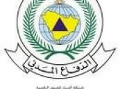 الدفاع المدني يباشر حادث  إنهيار خزانين  للخرسانة سعتهما ( 300 ) طن وإرتفاع ( 10 ) أمتار في أحد مصانع الخرسانه بالأحساء  .