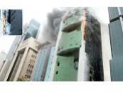 حريق هائل يدمر ثلاثة أبراج في الكويت