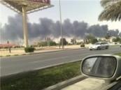 نشوب حريق هائل في مصنع للأسفنج  بالدمام  ( مرفق صور حصرية ) .