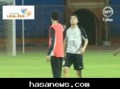 في تمرين نادي الشباب … مضاربة بين التائب ويحي هادي ( فيديو )