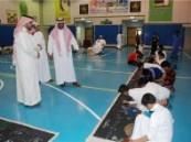 30 طالبا من المنهل وسعود بن نايف يرسمون 30 مترا