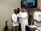 بحضور معالى  الدكتور بندر القيناوى صحة الحرس بالقطاع الشرقى تكريم اثني عشر من موظفيها .