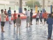 مهرجان الملعب الصابوني و الالعاب الهوائية لطلاب نادي الصديق الصيفي