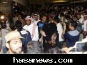 مصورتان سعوديتان في استقبال بعثة النصر