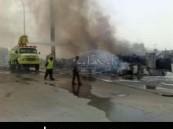 عدسة ( الأحساء نيوز ) ترصد حريق هائل شب ظهر اليوم الجمعة في سوق حراج الأحساء ( مرفق صور ) .