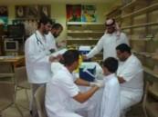 أستمرار المرحلة الثانية لتطعيم طلاب وطالبات مدارس مدينة العمران  .