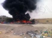 بالفيديو والصور … حريق هائل بسلمانية الهفوف والاستهتار مُستمر