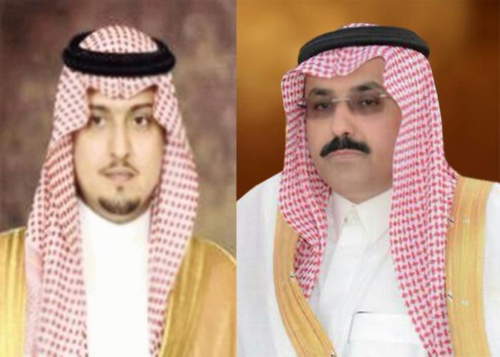 سمو الأمير عبدالعزيز بن سعد يهنئ الأمير عبدالله بن فهد آل سعود