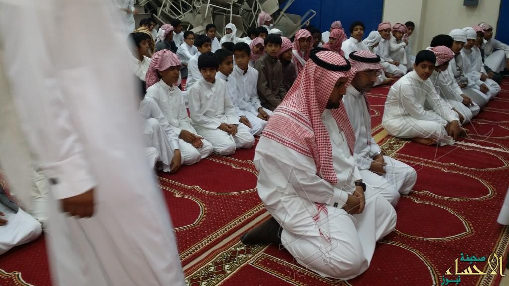 صلاة الإستسقاء بمدرسة أبو عبيدة المتوسطة