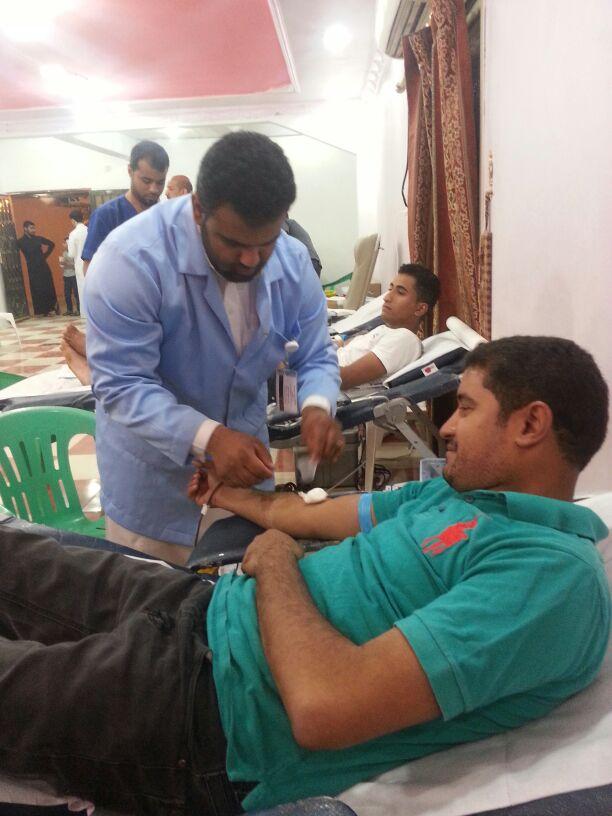 120 متبرع في حملة التبرع بالدم في قرية القرين
