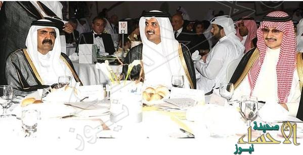 """""""حفل خيري"""" يجمع الوليد بن طلال بأمير قطر ووالده"""