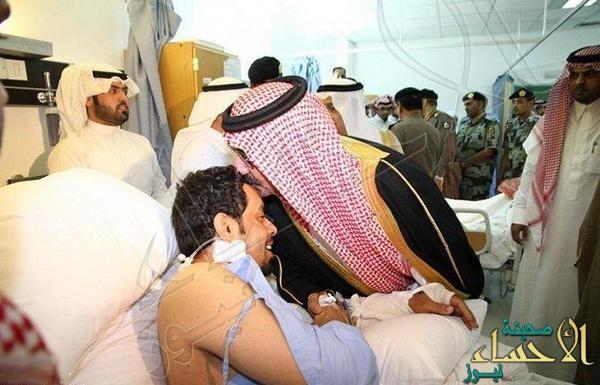 وزير الداخلية يطمئن على مصابي مواجهة بريدة