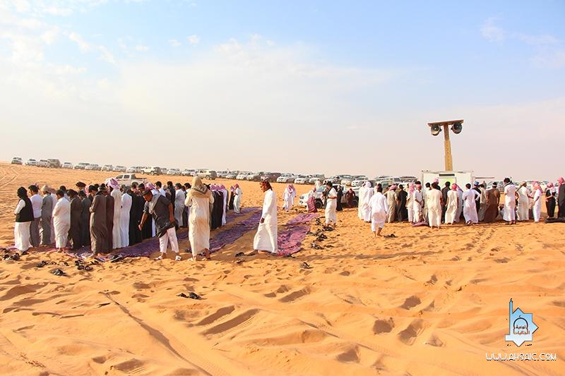 جاليات الأحساء يشارك مصليات الأمير مشعل المتنقلة في مزايين أم رقيبة