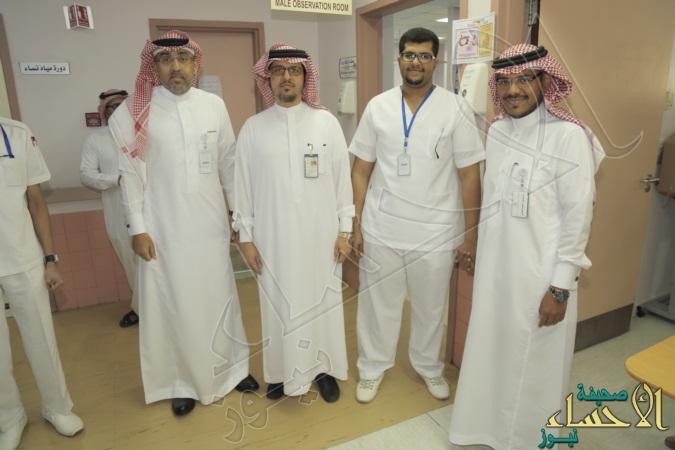"""بالصور… """"العبدالعالي"""" يحتفي بعودة الممرض """"المغدور"""" لعمله بمستشفى الولادة والأطفال"""