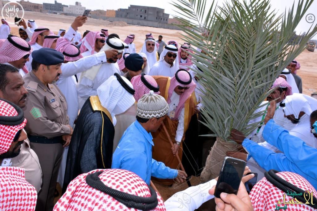 بالصور… وكيل محافظة الأحساء يدشن أكبر حديقة في مدينة العيون