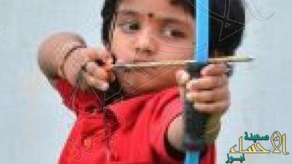 بالصور … طفلة هندية تحطم رقماً قياسياً في الرماية