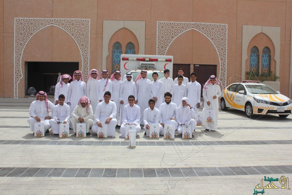 """ثانوية """"الملك سعود"""" في زيارة لمعرض أسبوع المرور الخليجي 31"""