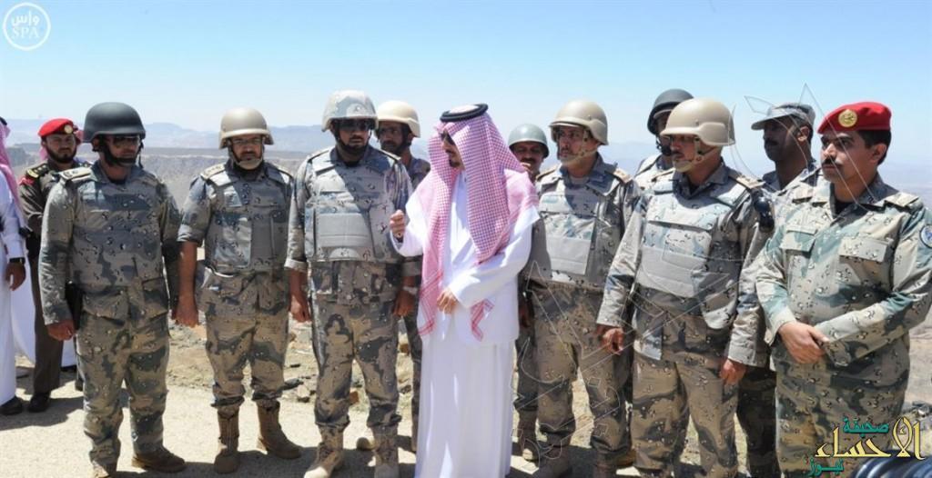 بالصور… أمير عسير يتفقد الاستعدادات على آخر نقطة حدودية بين المملكة واليمن