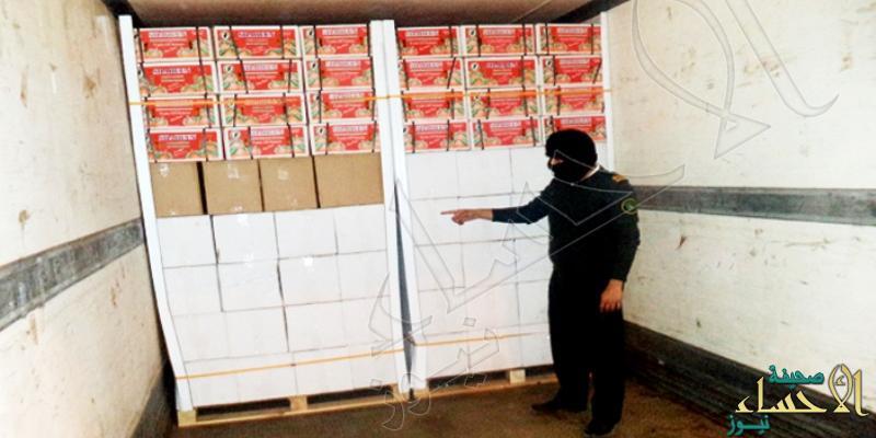 """منفذ """"البطحاء"""" يضبط أكثر من 17 ألف زجاجة خمر في إرسالية """"يوسف أفندي"""""""