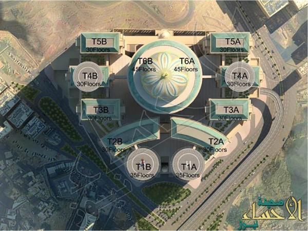 بالصور…  إنشاء أكبر فندق وقبة بالعالم.. في مكة المكرمة