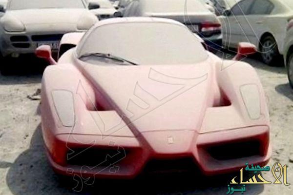 بالصور.. كشف هوية صاحب فيراري مهجورة في دبي ثمنها مليون و600 ألف دولار