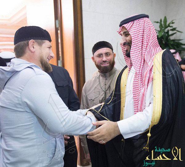 بالصور.. ولي ولي العهد يلتقي الرئيس الشيشاني ورئيس حزب القوات اللبنانية