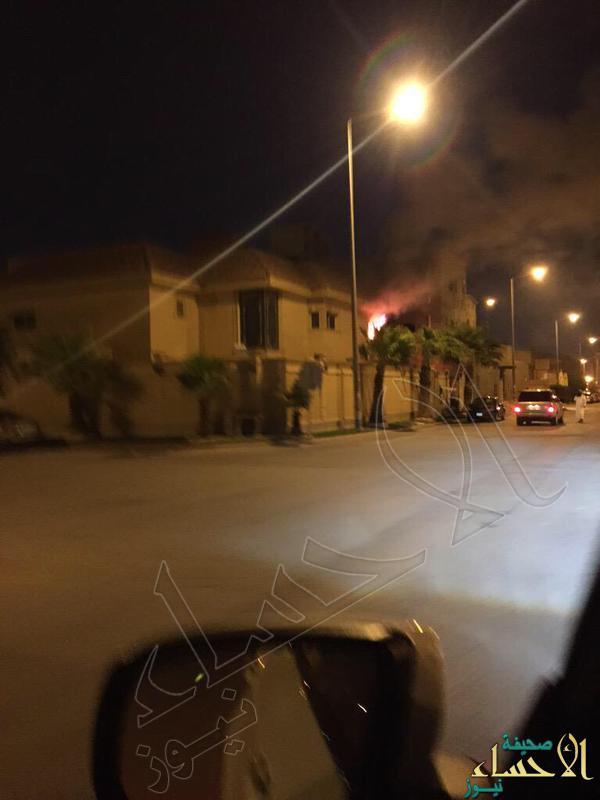 إخماد حريق اندلع بمنزل الشيخ عادل الكلباني