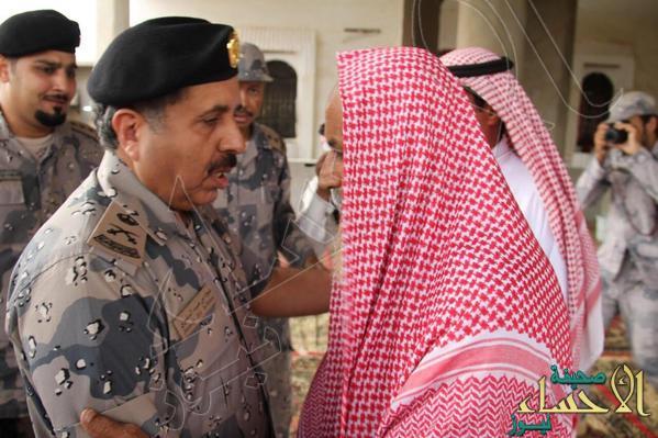 مدير عام حرس الحدود ينقل تعازي القيادة لذوي الشهيد بشيري