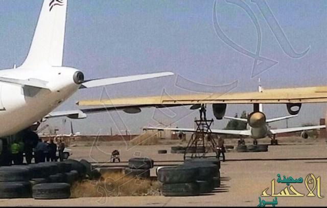 بالصور.. اصطدام طائرتين ايرانيتين بأحد مطارات #طهران