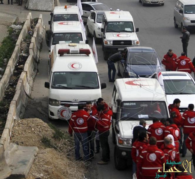المساعدات تدخل بلدة مضايا السورية