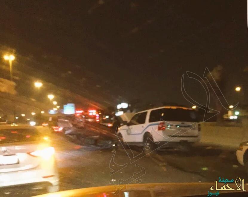 انقلاب مركبة مواطن بعد مطاردة هيئة الأمر بالمعروف والنهي عن المنكر في الرياض