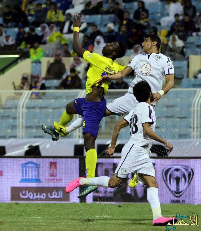 """بالصور.. #النصر يعلو على #هجر بأقدام """"ماركينيوس"""""""