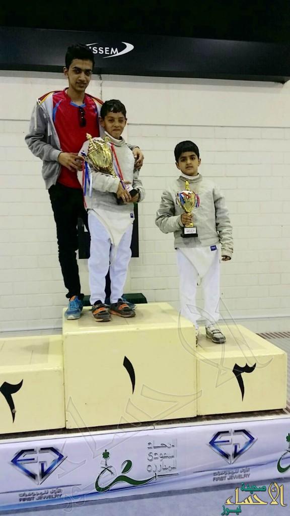 """ابن الأحساء """"الشيخ"""" يحقق المركز الأول في بطولة المملكة للمبارزة"""