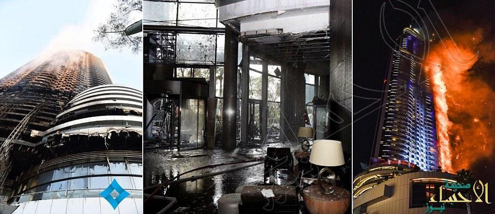 """ناج من حريق فندق """"العنوان"""" بدبي يروي لحظات الرعب"""