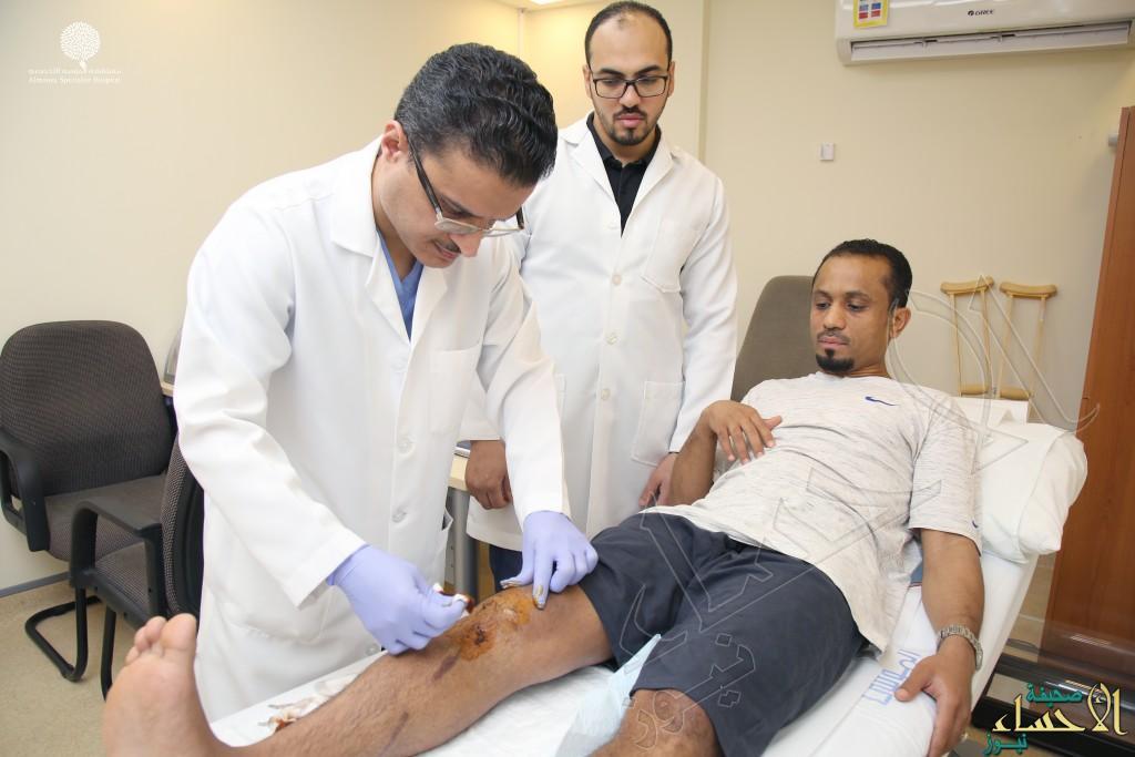 """في مستشفى الموسى .. نجاح أول عملية دقيقة لترميم """"أربطة ركبة"""" ثلاثيني"""