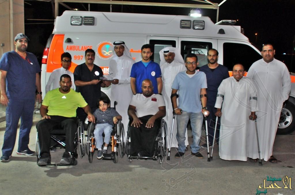 مستفيدو جمعية الإعاقة بالأحساء يشاركون رجال الهلال الأحمر إفطارهم الرمضاني