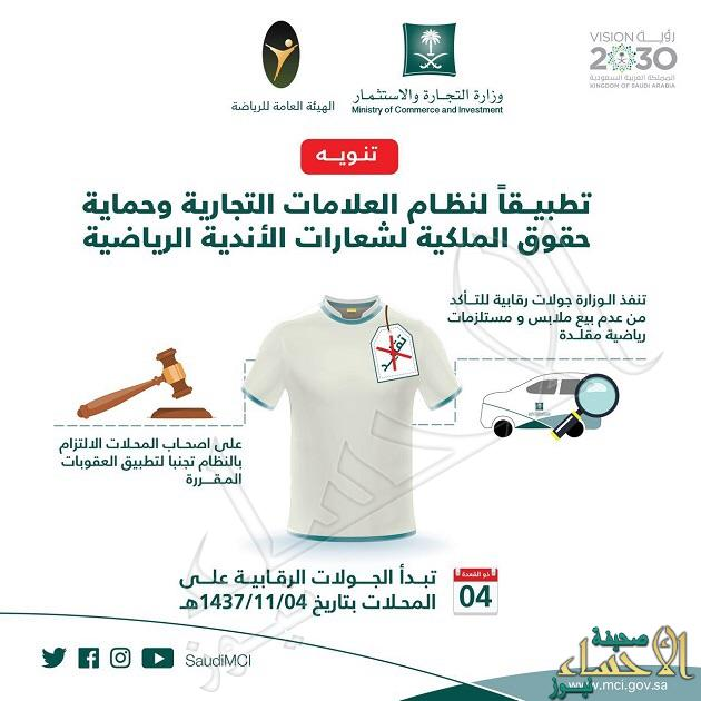 """""""التجارة"""" والهيئة العامة للرياضة تطلقان حملة لحماية شعارات الأندية"""