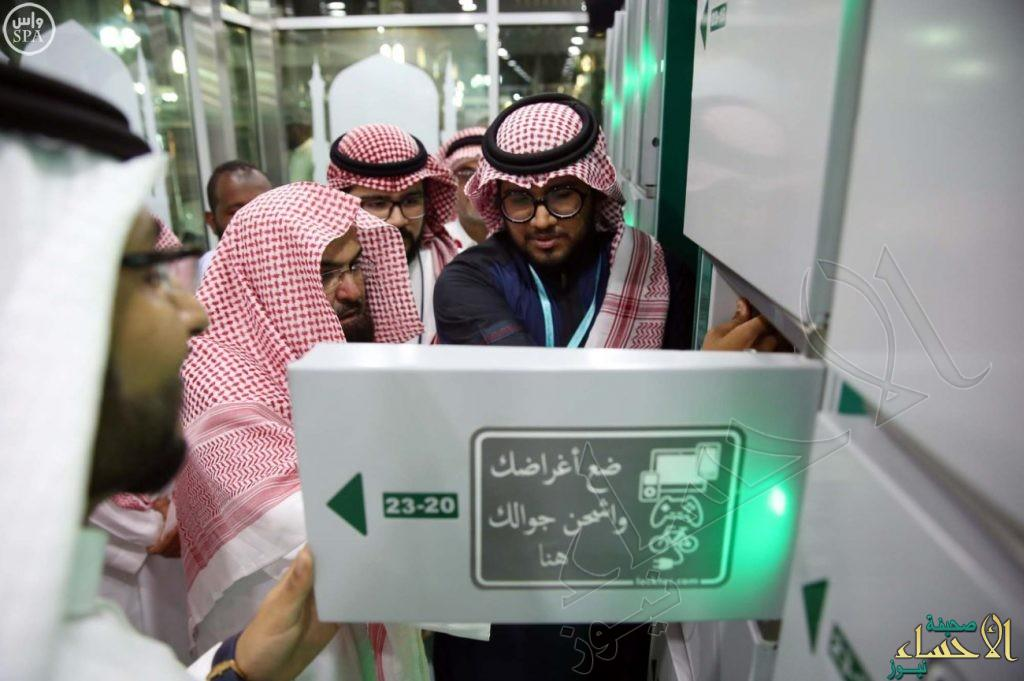 السديس يتفقد مواقع الشاشات وصناديق حفظ الأمتعة في ساحات المسجد النبوي