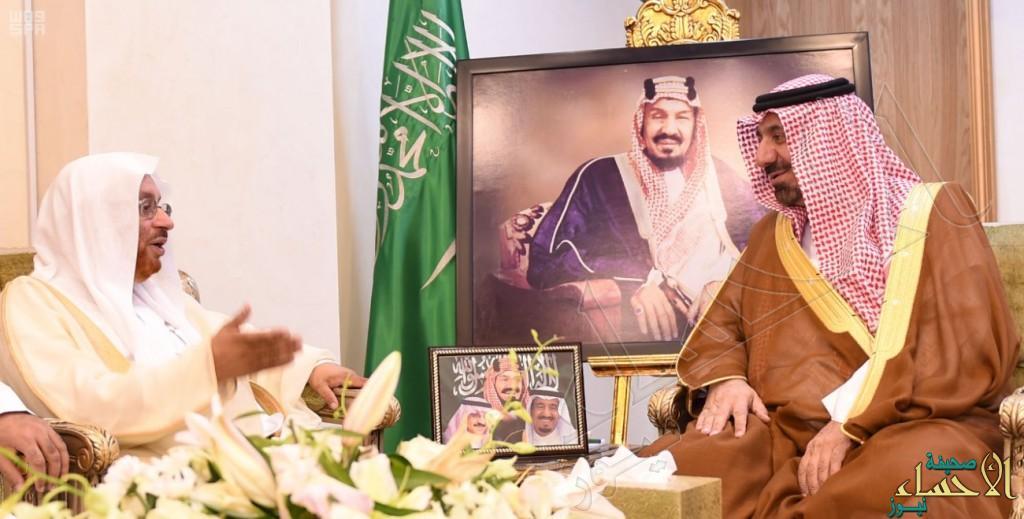 أمير نجران يستقبل معالي عضو هيئة كبار العلماء الشيخ قيس مبارك