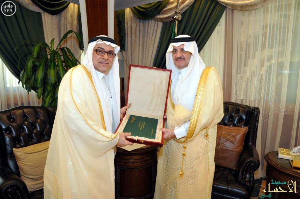الأمير سعود بن نايف يستقبل مدير الإدارة العامة للشؤون الزراعية بالشرقية