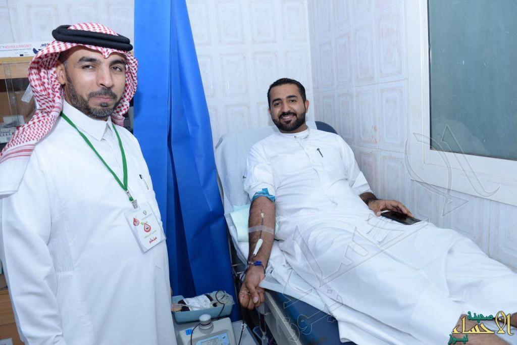 """بالصور.. على مدى يومين نجاح حملة التبرع بالدم في """"حي الملك فهد"""" بالأحساء"""