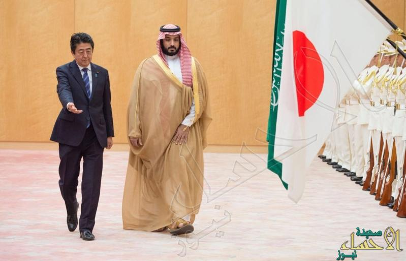 بالصور.. رئيس وزراء اليابان يستقبل ولي ولي العهد ويشهدان تبادل 7 مذكرات تفاهم