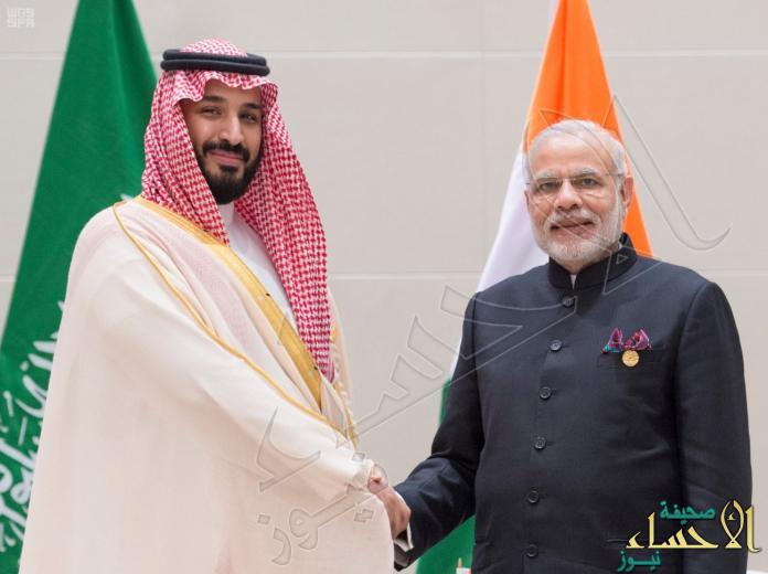 ولي ولي العهد يلتقي رئيس وزراء الهند على هامش قمة العشرين