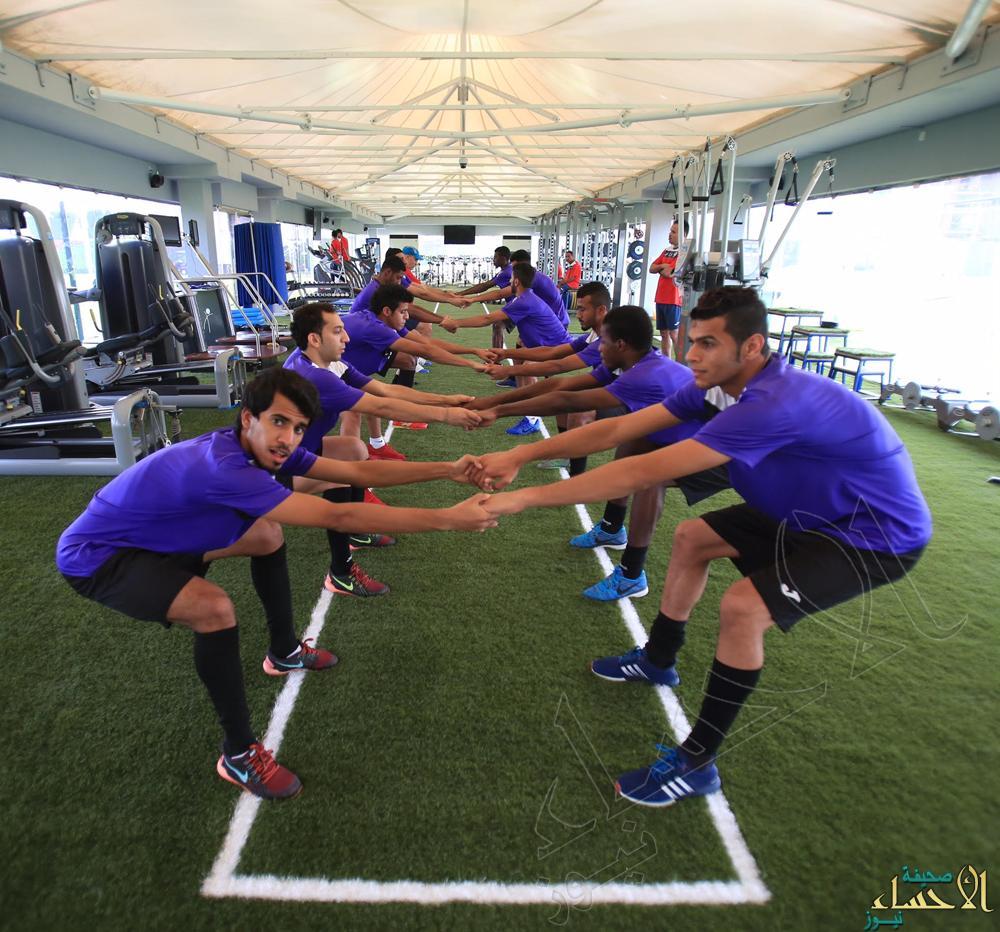 بالصور .. #هجر يواصل تدريباته على فترتين و يواجه العربي القطري غداً