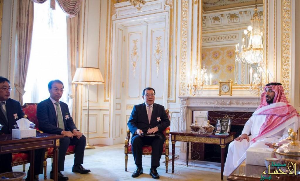 ولي ولي العهد يلتقي رئيس جي اكس اليابانية ويبحثان استثماراتها في ينبع