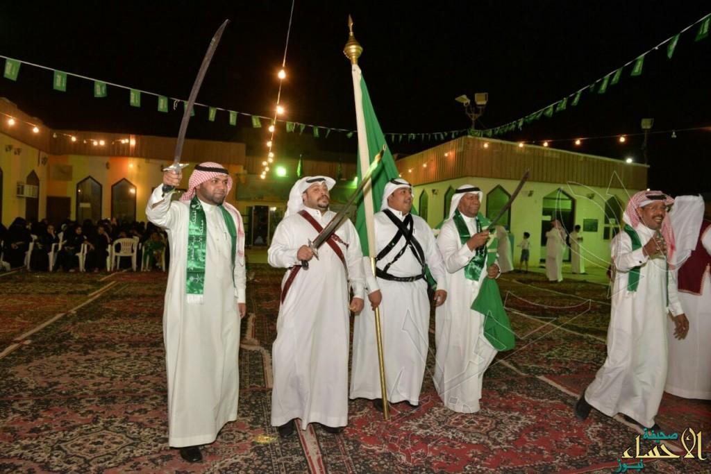 """بالصور .. """"فنون الأحساء"""" تحتفل باليوم الوطني للمملكة بحضور جمهور كبير"""