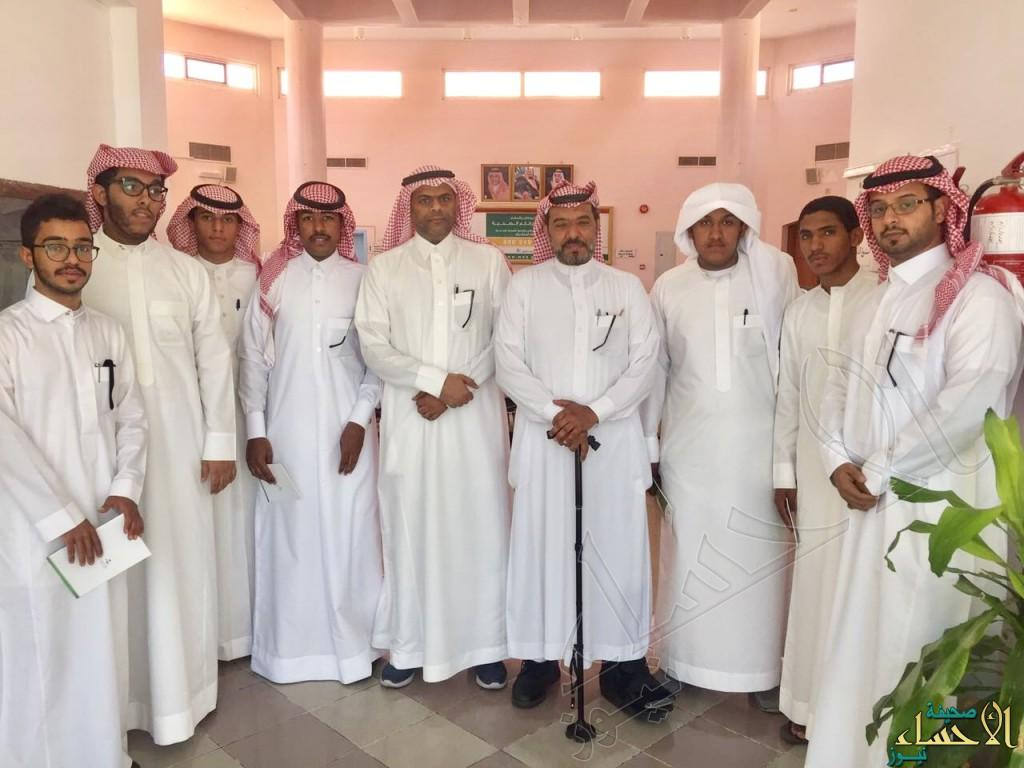 """ثانوية """"الملك سعود"""" في زيارة لمستشفى """"العفالق"""" للتأهيل"""