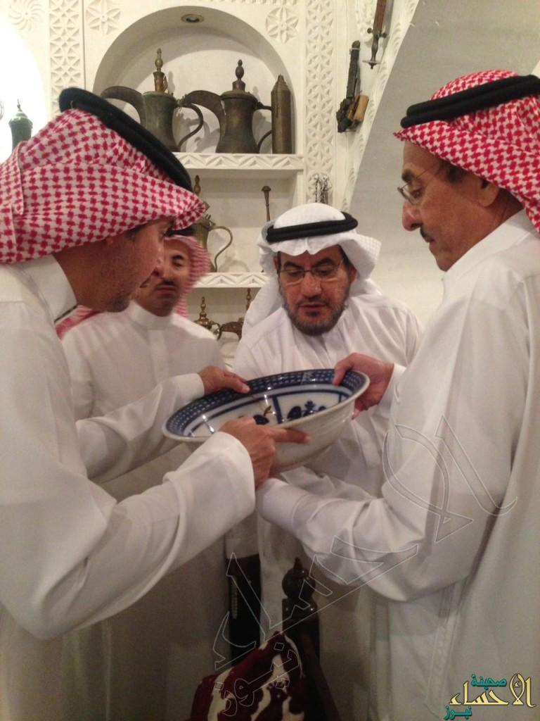 """بالصور.. """"الموسى"""" يحتفي بوفد دارة الملك عبدالعزيز"""