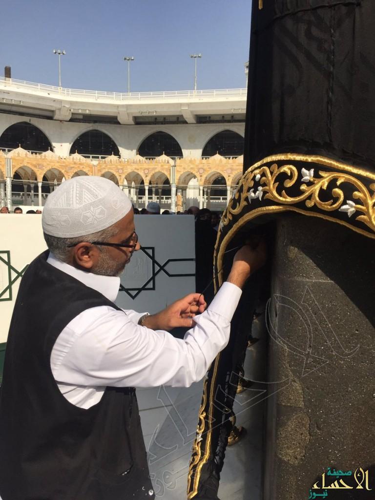 بالصور.. حُلية ذهبية جديدة على الركن اليماني بالمسجد الحرام