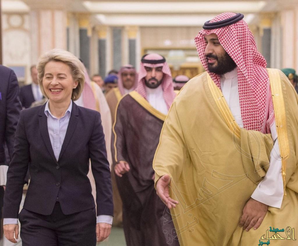 ولي ولي العهد يستقبل وزيرة الدفاع الألمانية ويبحثان العلاقات الثنائية والجهود المبذولة في مكافحة الإرهاب